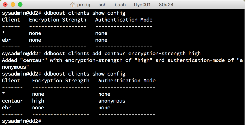 DDBoost In-flight encryption configuration