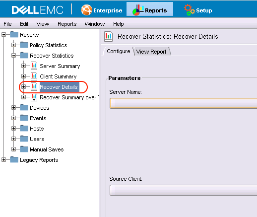 NMC Recover Details Report